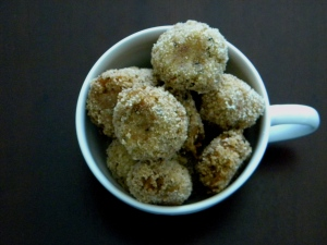 couliflower and tuna balls