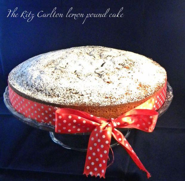 ritz carlton lemon pound cake