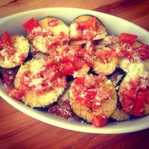 eggplant pecorino tomatoes